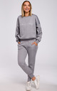 Relaxed Embroidered Sweatshirt in Grey by MOE