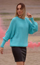 Relaxed Classic Pullover in Turquoise by MOE
