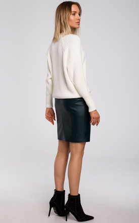 Relaxed Classic Pullover in Ecru by MOE