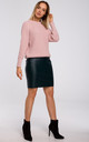 Relaxed Classic Pullover in Pink by MOE