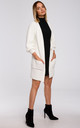 Ribbed Knit Cardigan with Patch Pockets in White by MOE