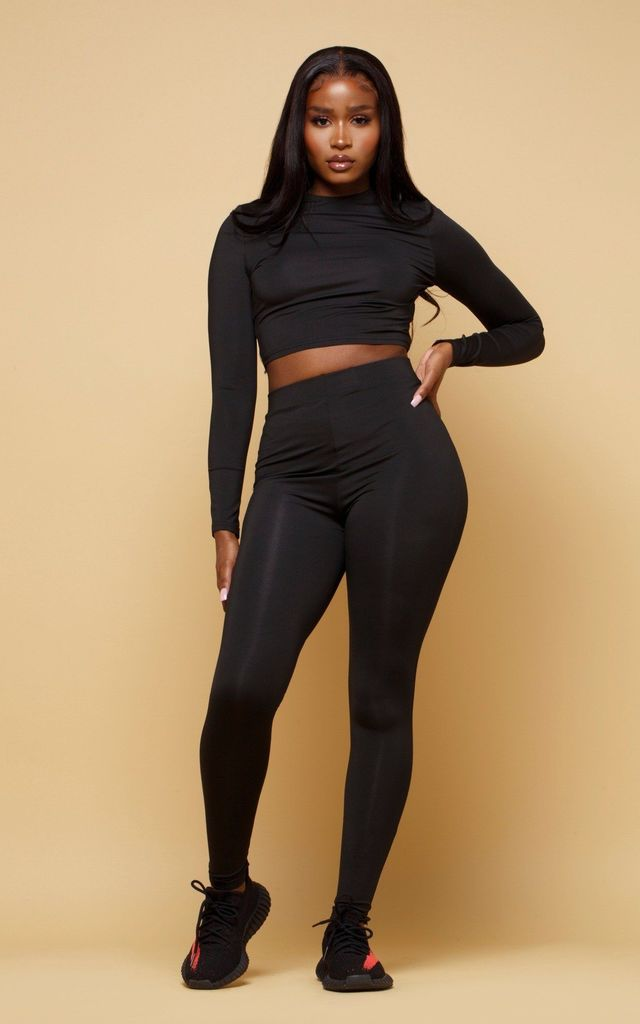 Black Jersey Leggings by MISLANI