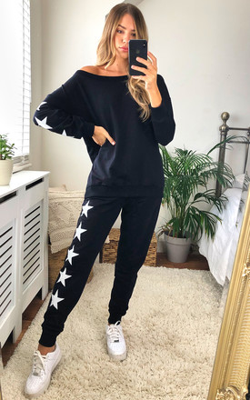 Star Print Loungewear Co Ord Set In Dark Navy by Jenerique Product photo
