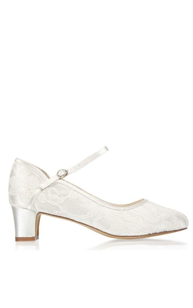 Amiya Lace Wide Fit Two Part Low Heel Shoe by Paradox London