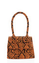 Tiny micro orange snake effect handbag by Hello Handbag