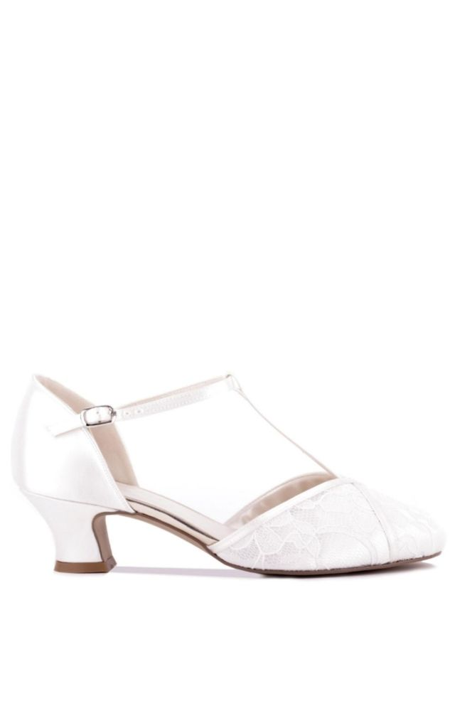 Artisan Dyeable Satin Low Heel T-Bar Sandal by Paradox London
