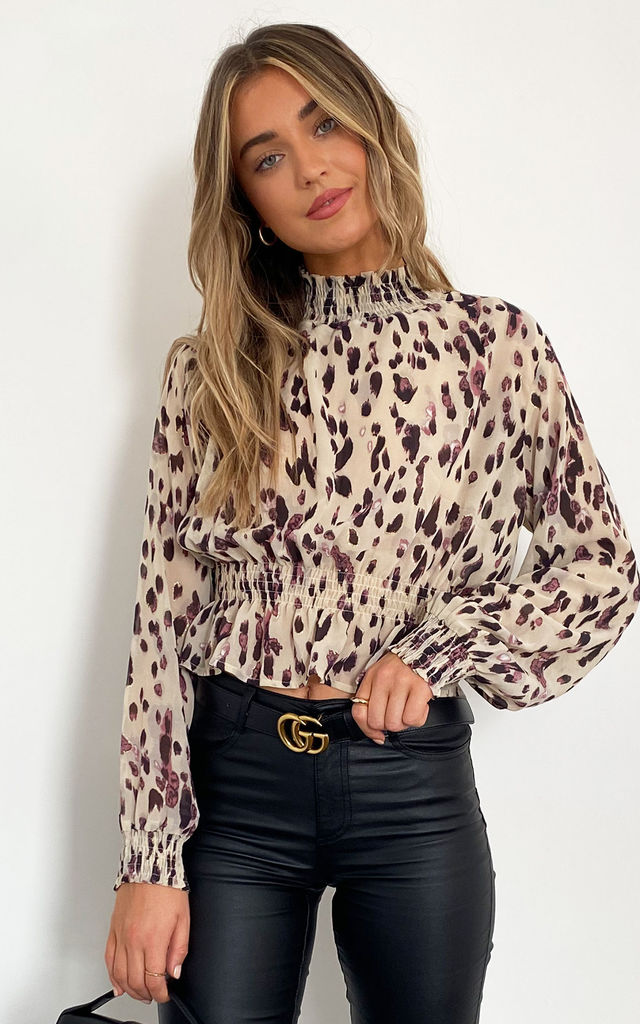 Izzie Crop Lurex Blouse by Zibi London