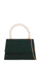 Dark green snake effect pearl handle by Hello Handbag