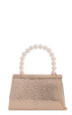 Gold metallic snake effect pearl handle by Hello Handbag