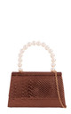 Bronze snake effect pearl handle by Hello Handbag