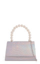 Mermaid iridescent snake effect pearl handle by Hello Handbag