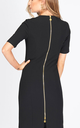 The Grace Half Sleeve Bodycon Dress in black by Worth A Million
