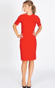 The Grace Half Sleeve Bodycon Dress in red by Worth A Million