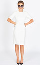 The Grace Half Sleeve Bodycon Dress in white by Worth A Million