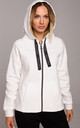 Comfortable Zipped Hoodie in White by MOE