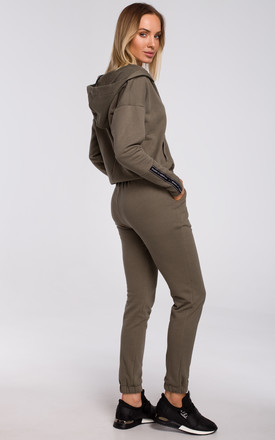 Khaki Comfy Joggers with Pockets by MOE