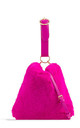 Neon pink faux fur loop strap handbag by Hello Handbag