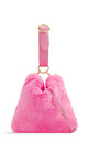 Pink faux fur loop strap handbag by Hello Handbag
