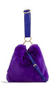 Purple faux fur loop strap handbag by Hello Handbag