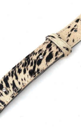 Leopard Hair On Hide Leather Crossbody Bag Replacement Strap by hydestyle london