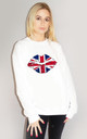 United Kiss Jumper in White by Sade Farrell