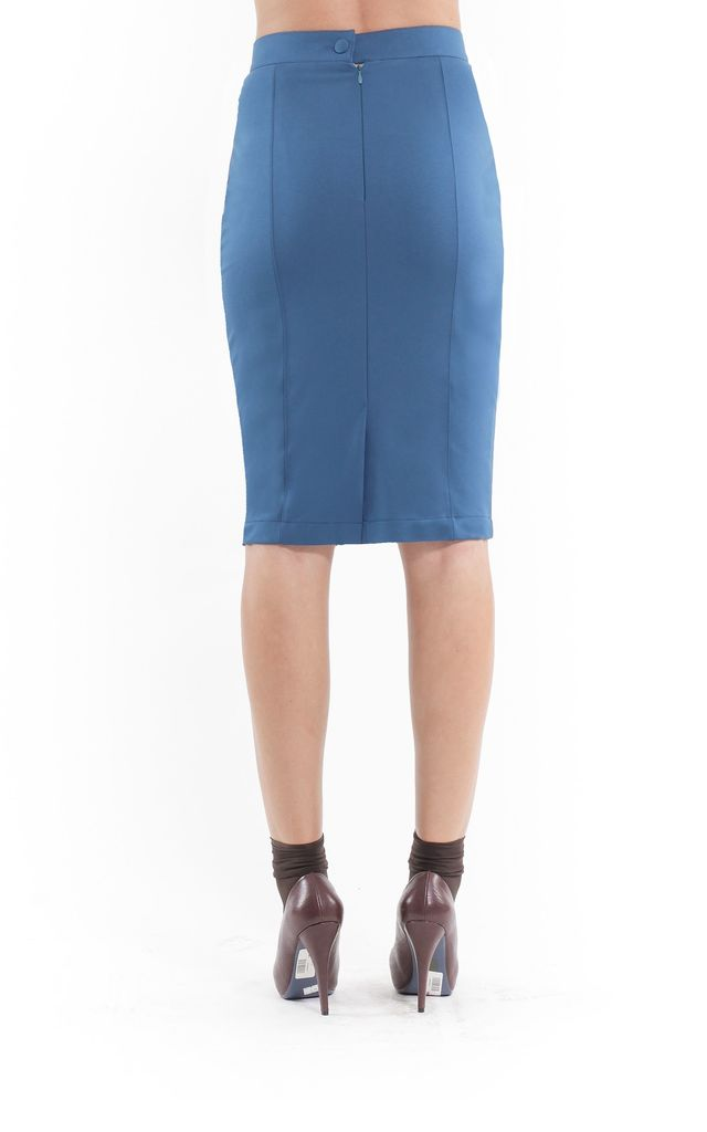 Stretch Pencil Skirt petrol by Conquista Fashion