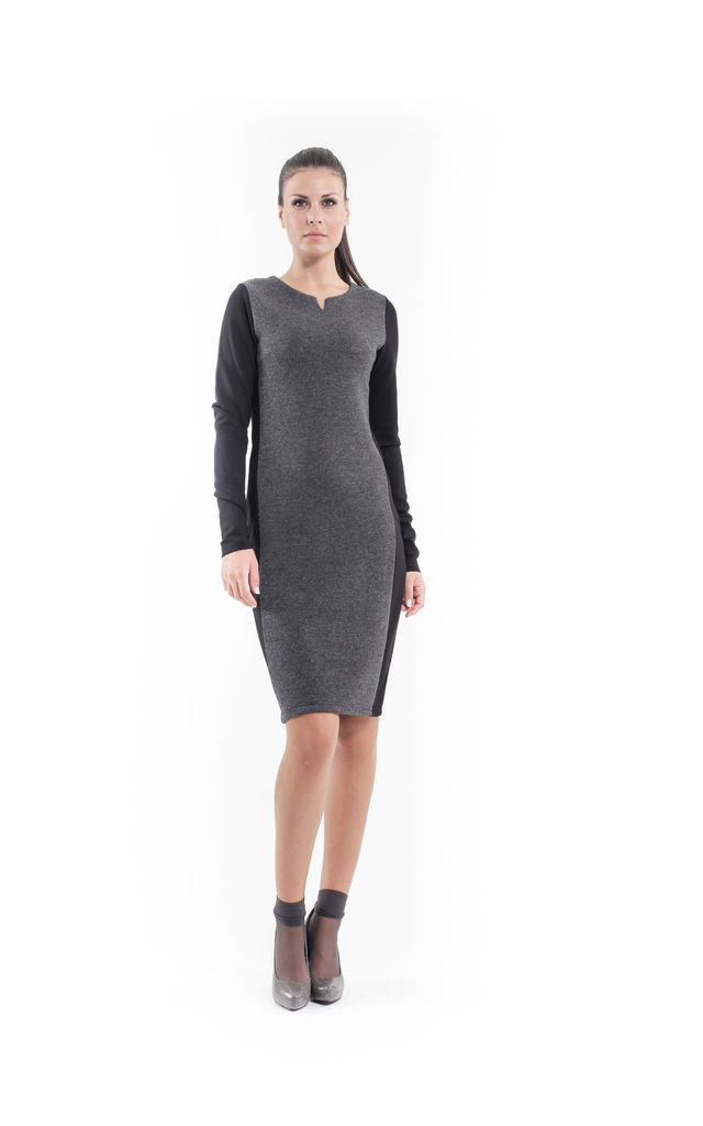 Wool Blend Straight Dress by Conquista Fashion