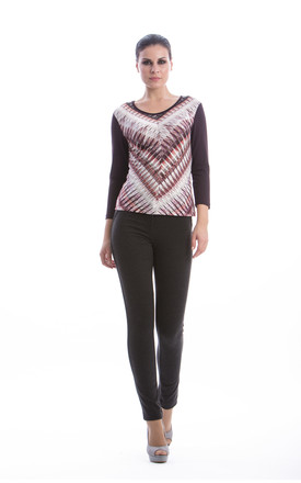 Straight Patterned Top by Conquista Fashion
