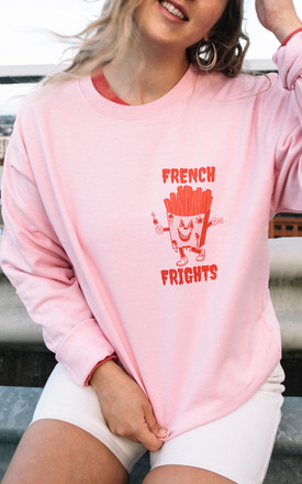 French Frights Women's Pink Halloween Sweatshirt by Batch1