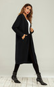 Soft Wool Blended Midi Cardigan In Black by FS Collection