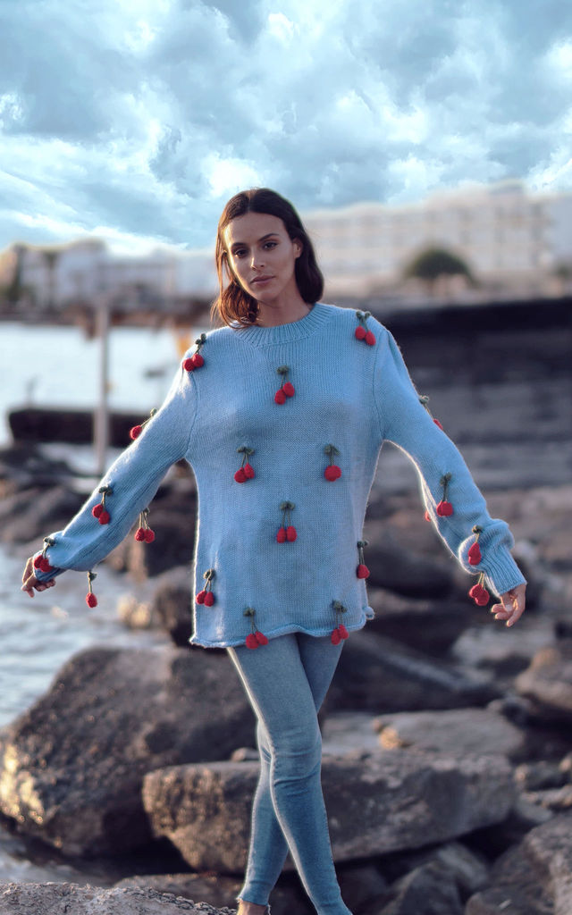 Cherry Boo oversized applique jumper by AMO