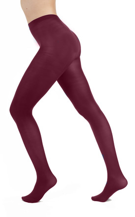 50 Denier Opaque Tights in Damson by PM TIGHTS