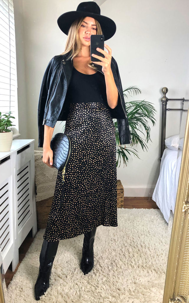 Tiara Animal Print Midi Skirt by Faux