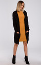 Open Front Cardigan with Pockets in Black by MOE