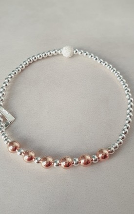 60th Birthday! Sterling Silver and Rose Gold Decade Bracelet by Kelly England Handmade Jewellery