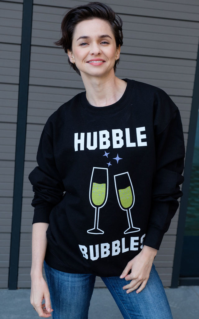 Hubble Bubbles Women's Halloween Slogan Sweatshirt by Batch1
