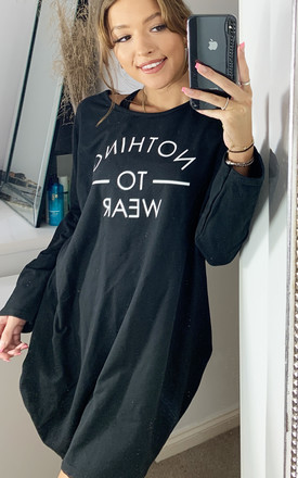 Nothing To Wear Oversized Sweatshirt In Black by Love Product photo