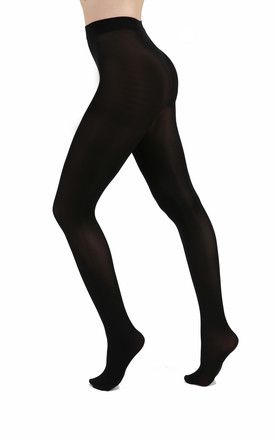 80 Denier Opaque Tights in Black by PM TIGHTS