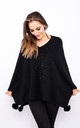 Sparkle Embossed Smart Poncho (Black) by Lucy Sparks