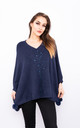 Sparkle Embossed Smart Poncho (Navy) by Lucy Sparks