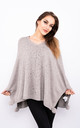Sparkle Embossed Smart Poncho (Beige) by Lucy Sparks