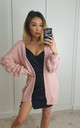 Pink Large Knit Bobble Cardigan by GIGILAND UK