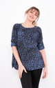Long sleeve leopard print top in Blue by LOES House
