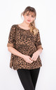 Long sleeve leopard print top in Camel by LOES House