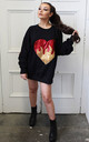 Flaming Heart Sequin Sweater by Isolated Heroes