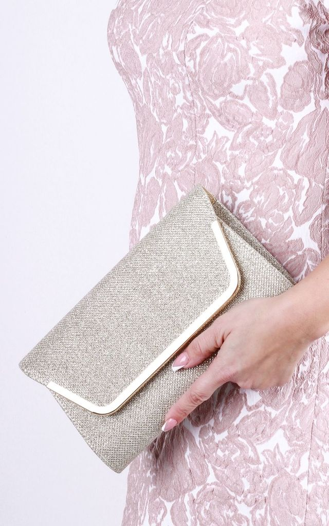 Denise Glitter Mesh Clutch Bag by Paradox London