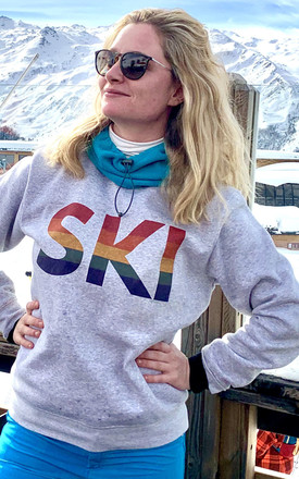 Rainbow Ski Jumper by The Alphabet Gift Shop