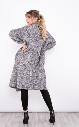 wool effect trench coat in Light Grey by LOES House