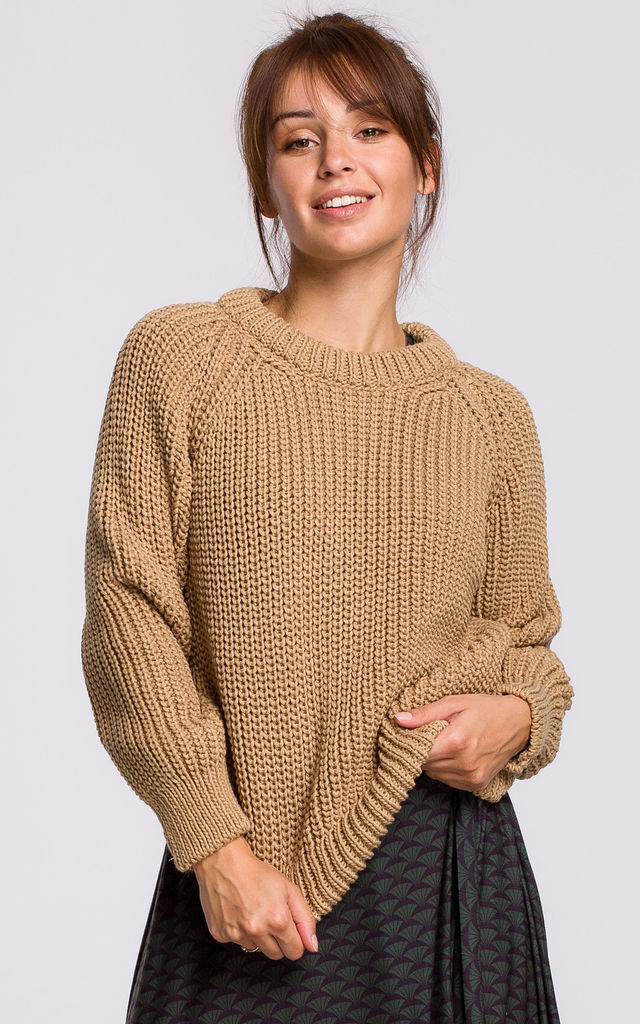 Warm and Cozy Pullover in Light Brown by MOE