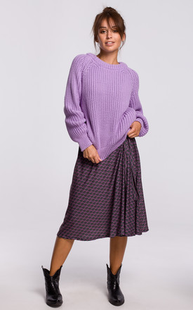 Warm and Cozy Pullover in Violet by MOE